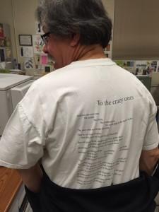 eSteve Think Different t-shirt back